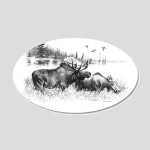 Moose 20x12 Oval Wall Decal