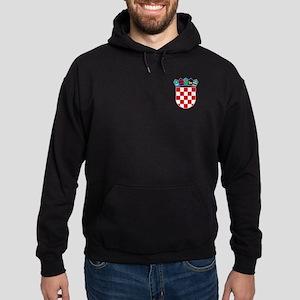 Croatia Hrvatska Emblem Hoodie (dark)