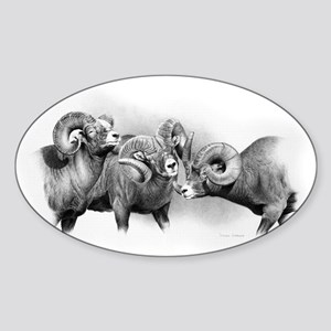 Rams Sticker (Oval)