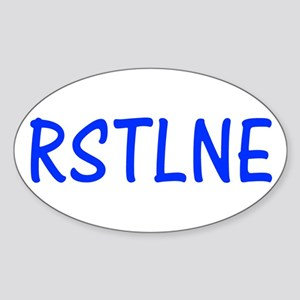 RSTLNE Oval Sticker