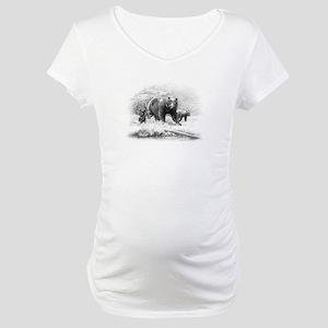 Black Bear Maternity T-Shirt