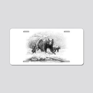 Black Bear Aluminum License Plate