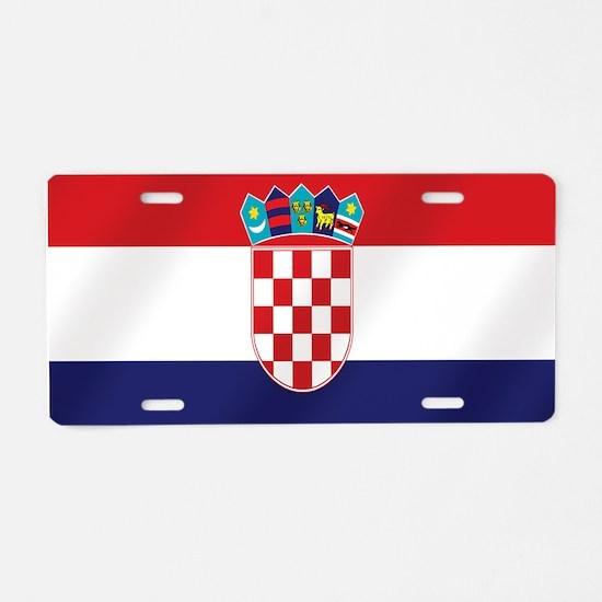 Flag of Croatia Aluminum License Plate