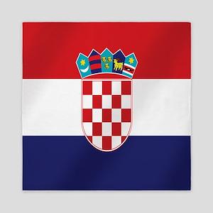 Flag of Croatia Queen Duvet