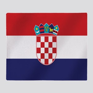 Flag of Croatia Throw Blanket