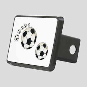 Soccer Ball Footprint Rectangular Hitch Cover
