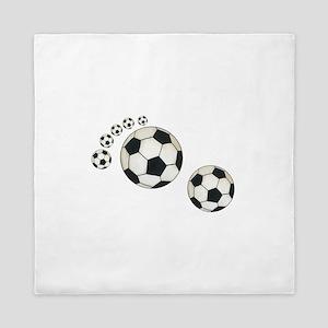 Soccer Ball Footprint Queen Duvet
