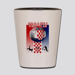 Croatian Football Shot Glass