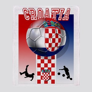 Croatian Football Throw Blanket