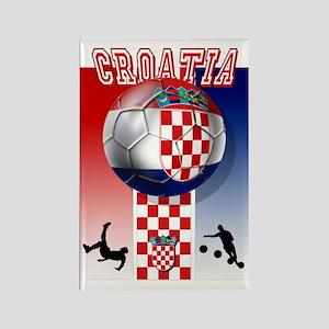 Croatian Football Rectangle Magnet