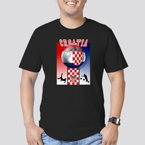 Croatian Football Men's Fitted T-Shirt (dark)