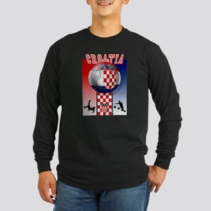 Croatian Football Long Sleeve Dark T-Shirt