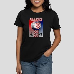 Croatian Football Women's Dark T-Shirt