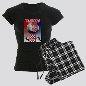 Croatian Football Women's Dark Pajamas