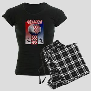 Croatian Football Women's Dark Pajamas