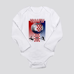 Croatian Football Long Sleeve Infant Bodysuit