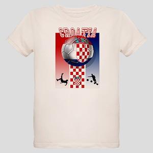 Croatian Football Organic Kids T-Shirt