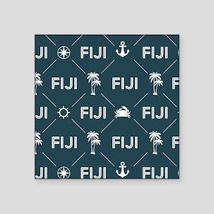 "Phi Gamma Delta Pattern Blu Square Sticker 3"" x 3"""
