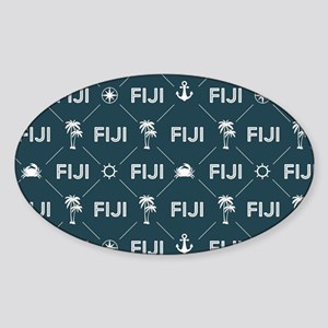 Phi Gamma Delta Pattern Blue Sticker (Oval)