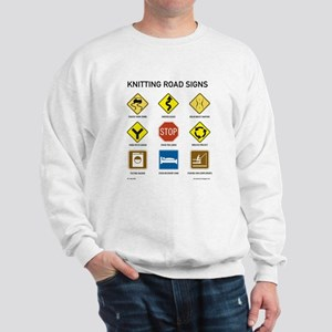 Knitting Road Signs Sweatshirt