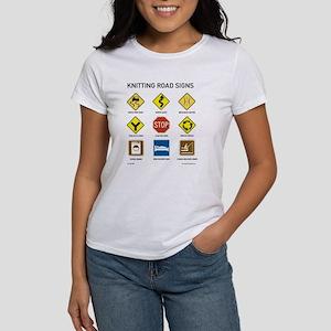 Knitting Road Signs Women's T-Shirt