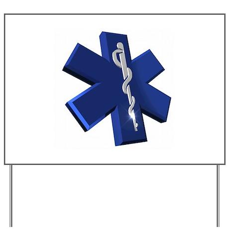 Star of Life Logo Yard Sign