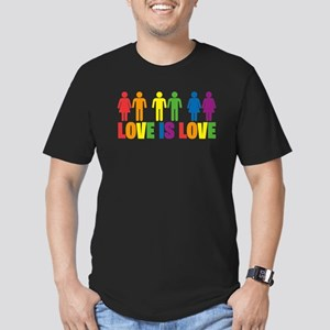 Love is Love Men's Fitted T-Shirt (dark)
