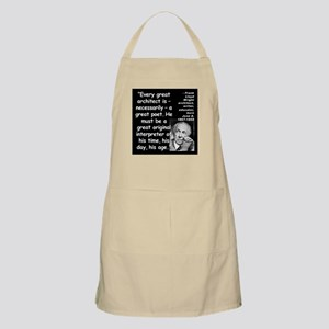 Wright Poet Quote 2 Apron