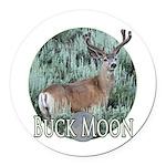 Buck moon Round Car Magnet