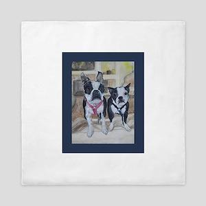 Boston Terriers Queen Duvet
