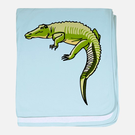 Alligator baby blanket