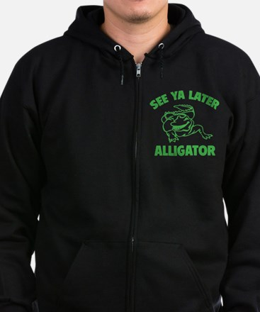 See Ya Later Alligator Zip Hoodie (dark)