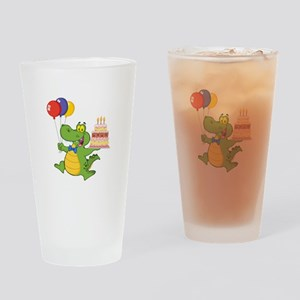 Alligator Happy Birthday Drinking Glass