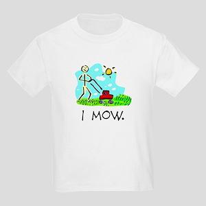I Mow Kids Shirt