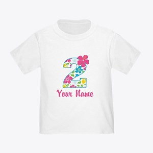 2nd Birthday Tropical Toddler T-Shirt