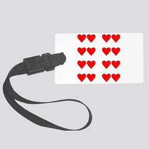 Hearts for Two Under the Moon 4C Large Luggage Tag