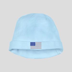 USA Patriotic Cat Flag baby hat