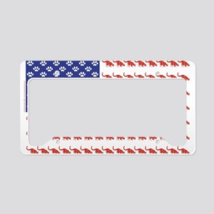 USA Patriotic Cat Flag License Plate Holder