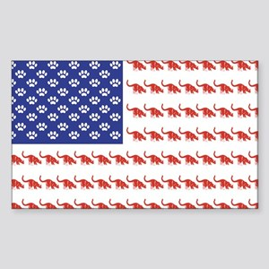 USA Patriotic Cat Flag Sticker (Rectangle)