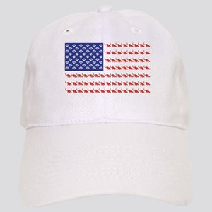 USA Patriotic Cat Flag Cap