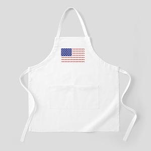 USA Patriotic Cat Flag Apron
