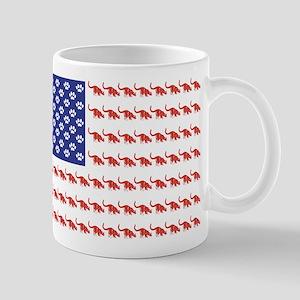 USA Patriotic Cat Flag Mug