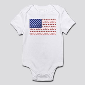 USA Patriotic Cat Flag Infant Bodysuit