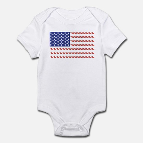 USA Patriotic Cat Flag Infant Bodysuit