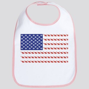 USA Patriotic Cat Flag Bib