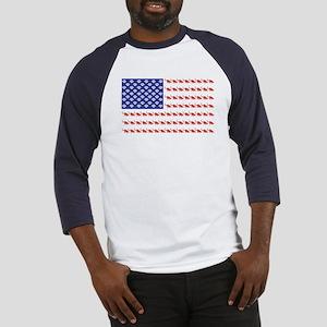 USA Patriotic Cat Flag Baseball Jersey