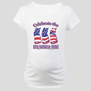 USA/Patriotic Kitty Cats Maternity T-Shirt