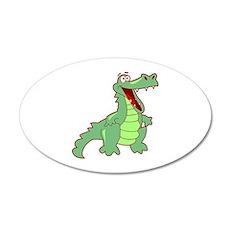 Alligator 22x14 Oval Wall Peel