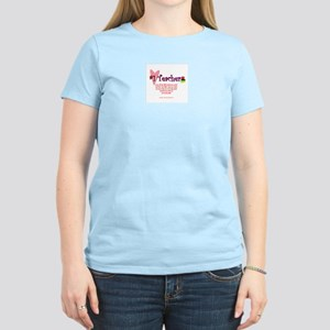 #1 Teacher Cute Poem Women's Pink T-Shirt