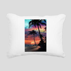 Tropical Sunset Rectangular Canvas Pillow